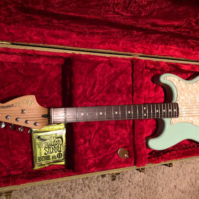 Fender Tom Delonge Artist Series Signature Stratocaster 2002 - 2003 Surf green for sale