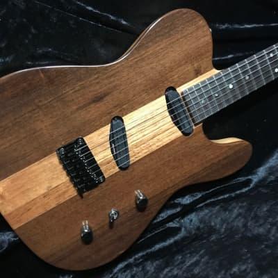 Switch Wild metallic blue neck thru guitar Parker Fly | Reverb