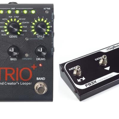 New DigiTech Trio+ Band Creator Plus Looper Guitar Effects Pedal! w/ FS3X Trio +