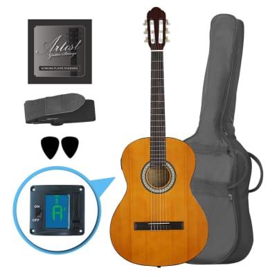 Artist CL44SPKAM Full Size Classical Guitar Pack, Nylon, Slim Neck for sale