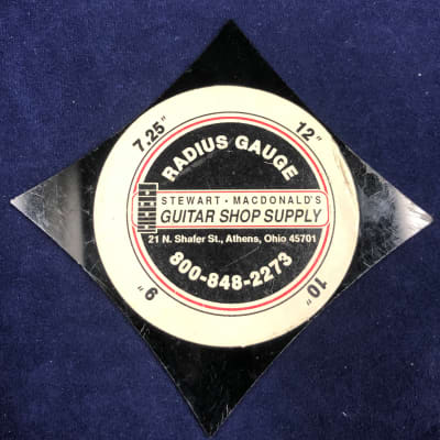 "Stewart MacDonald 7.25/9/10/12"" Radius Gauge for sale"