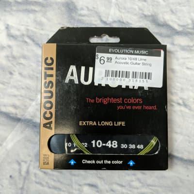 Aurora 10/48 Lime Acoustic Guitar String