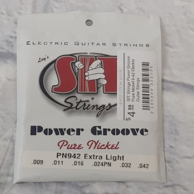 SIT Strings Power Groove Pure Nickel 9-42 Electric Guitar Strings
