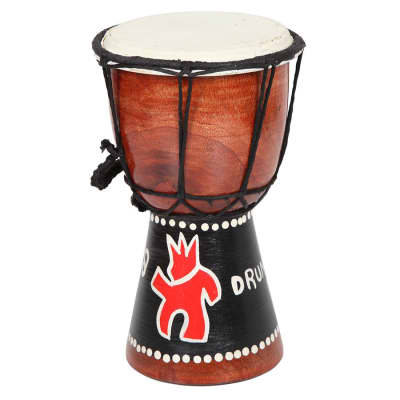 X8 Drums Hand Painted Mini Djembe