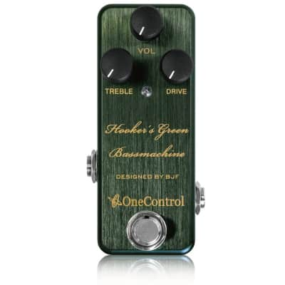 One Control Hooker`s Green Bassmachine Bass Preamp Guitar Effects pedal for sale