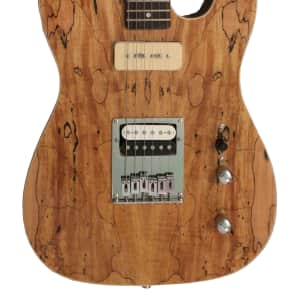 Fishbone Spalted Maple Tele w/ Humbucker and P90 Soap bar Solid Body Guitar Telecaster style Superb