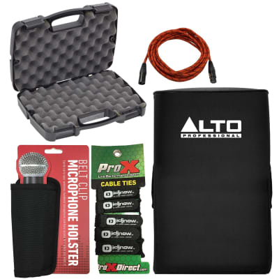 Alto TS215 Padded Slip-On Speaker Covers + Storage Case + Accessories Pack