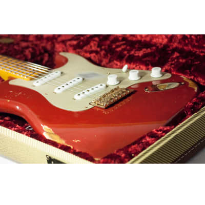 2014 Fender Custom Shop Golden '50s Relic 1954 Stratocaster 60th Anniversary Cimarron Red for sale