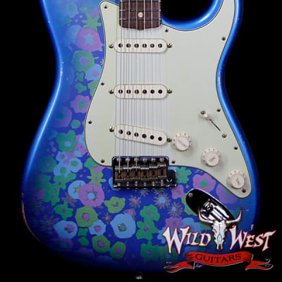 Fender Custom Shop 1963 Stratocaster Relic 63 Reissue AAA Rosewood Fingerboard Blue Flower for sale