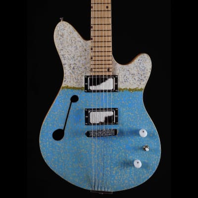 Malinoski Nero #394 New Luthier Built Handmade Silver Foils Hollow Body Good Time Thinline for sale