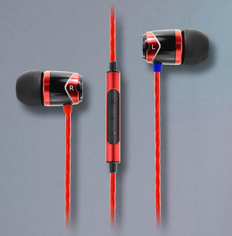 0b7b9aa15d7 Sound Magic E10C Red In-ear Earbuds with inline microphone | Reverb
