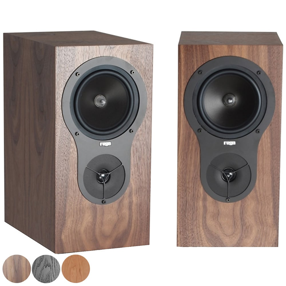 Rega RX1 Bookshelf Speakers - Walnut