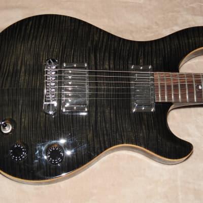 2008 Michael Kelly Valor II Black Flame 2008 Trans Black Set Neck Humbucker Mini Humbucker Gig-Bag!