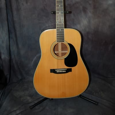 Vintage 1975 Yamaki Grande GS200 Dreadnought Guitar Japan Pro Setup Road Runner Deluxe Gigbag for sale
