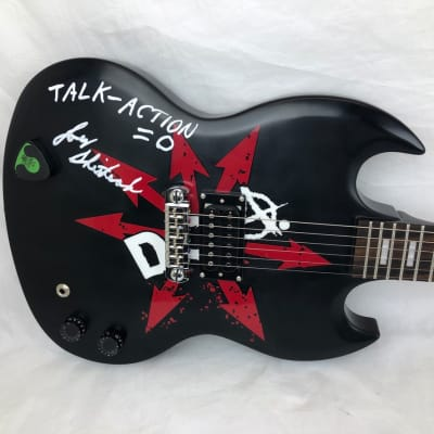 Odyssey Joe Keithley D.O.A. Graphic JK200 Autographed Satin Black Guitar 021 for sale