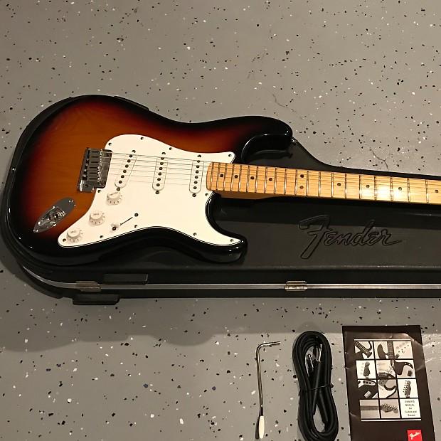 Fender USA American Standard Stratocaster (3-tone tobacco   Reverb