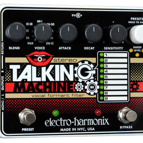 Electro Harmonix Stereo Talking Machine Vocal Formant Filter for sale