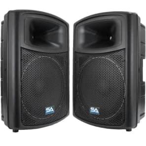 "Seismic Audio NPS-15PAIR Passive 1x15"" Lightweight Molded 350w Speakers (Pair)"
