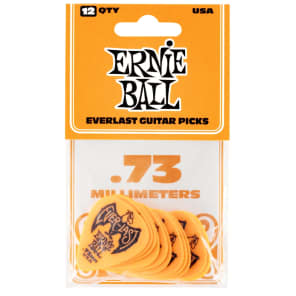 Ernie Ball P09190 Everlast Delrin Guitar Picks - .73mm (12-Pack)