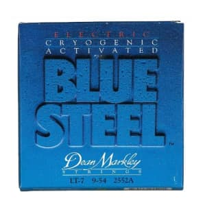 Dean Markley 2552A Blue Steel 7-String Electric Guitar Strings - Light,  (9-54) for sale
