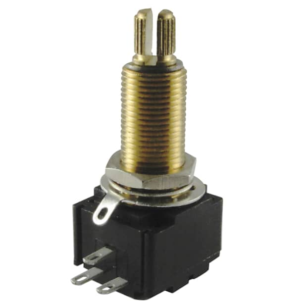 Seismic Audio Replacement Logarithmic Taper Volume Pot 250K-Ohm-Coarse Knurled Split Shaft SAGA48