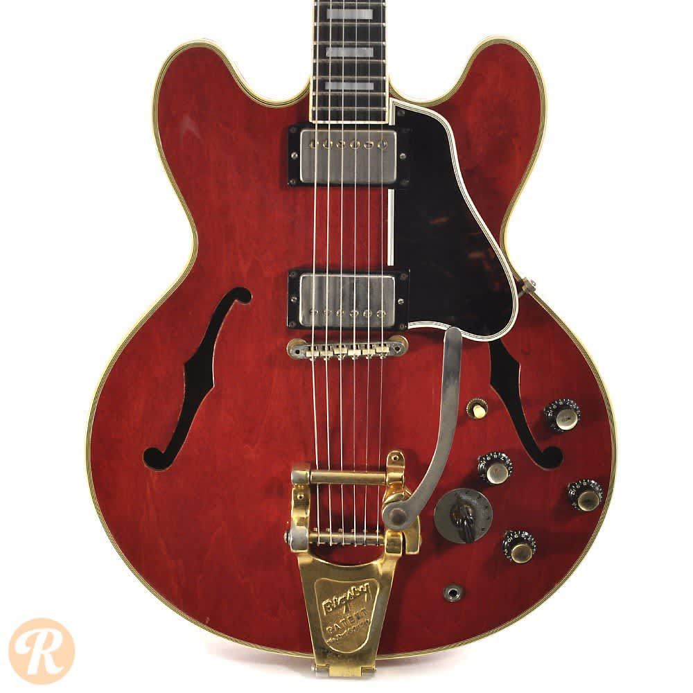 gibson es 335 td with bigsby 1962 cherry price guide reverb. Black Bedroom Furniture Sets. Home Design Ideas