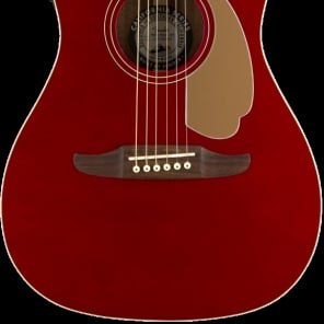 Fender Malibu Player Model Electric Acoustic Guitar in Candy Apple Red - SO COOL for sale