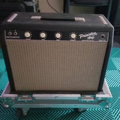 Fender Princeton Pre-CBS Amplifier 1964 Transition Tuxedo Amp w/ Custom Road Case! for sale
