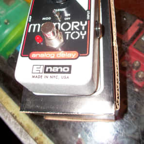Electro-Harmonix Memory Toy Analog Delay Black and Red and Chrome