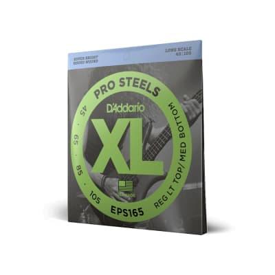 "D'Addario XL - Pro Steels Round Wound Bass Strings - Regular Light Top/Medium Bottom (45-105) - Long Scale (34"")"