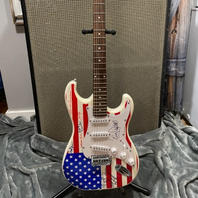 Main Street Guitar Company Strat Red White Blue for sale