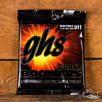 GHS Boomers 11-50 Roundwound Medium Electric Guitar Strings