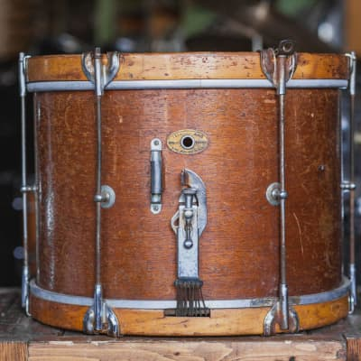 Slingerland Mid 1950s Mahogany Marching Snare in Natural - 10x14