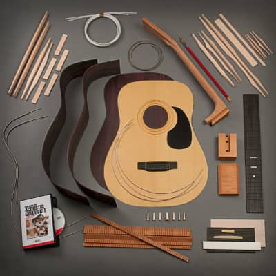 StewMac Dreadnought Acoustic Guitar Kit, Dovetail Neck, Torrefied Top, Indian Rosewood Back & Sides for sale