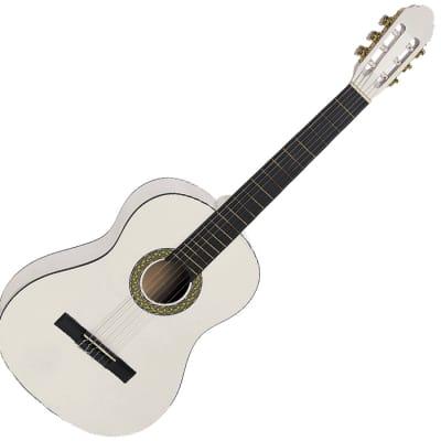 Toledo Primera 3/4 WH en color blanco guitarra española for sale