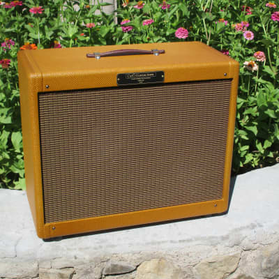 Carl's Custom Amps 2x10  Dark Lacquer Tweed 50's Alinco Extension Cabinet Dark Lacquer for sale
