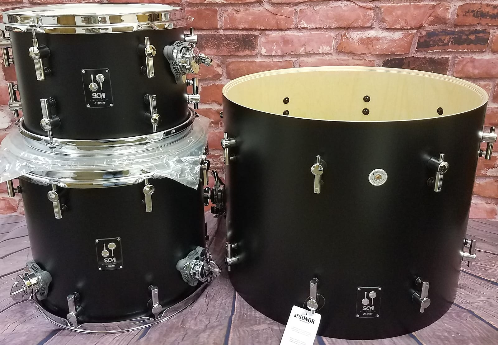 Sonor SQ1 Black 20x16/12x8/14x13 Jazz Bop Kit Drums Shell Pack | +FREE Bags | NEW Authorized Dealer