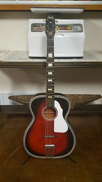 stella acoustic guitar 60s red harmony grand auditorium reverb. Black Bedroom Furniture Sets. Home Design Ideas
