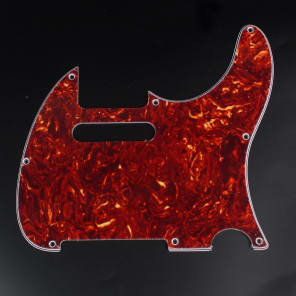 Replacement Guitar Pickguard For G&L ASAT Classic USA ,4ply Red Tortoise