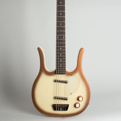 Danelectro  Longhorn Model 4623 Electric 6-String Bass Guitar,  c. 1967, tweed hard shell case. for sale