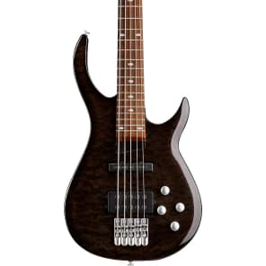 Rogue LX405TBK Series III Pro 5-String Bass Transparent Black