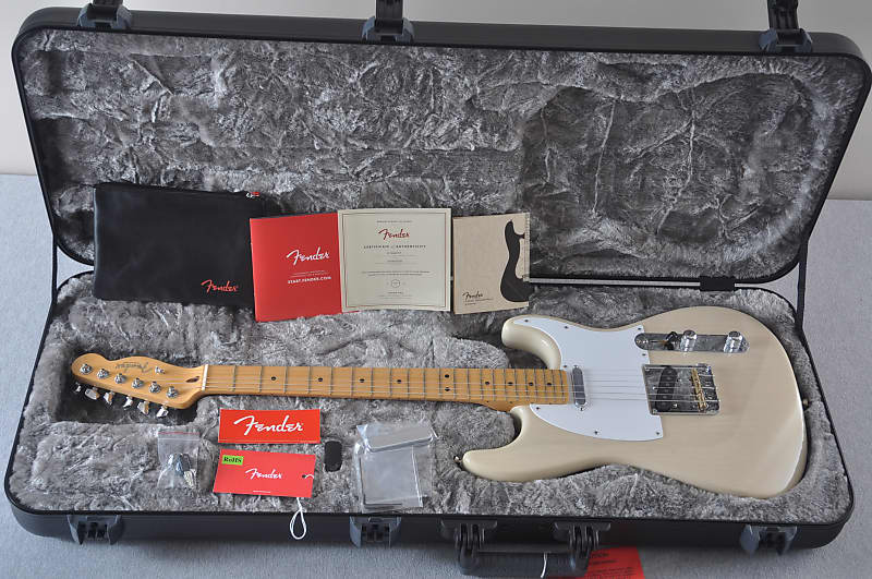Fender 2018 Limited Edition Whiteguard Stratocaster Maple Vintage Blonde - Made in USA image