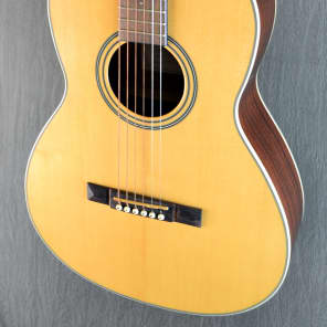 Cort L100P NS Luce Series Solid Spruce/Mahogany Parlor 12-Fret Natural Satin