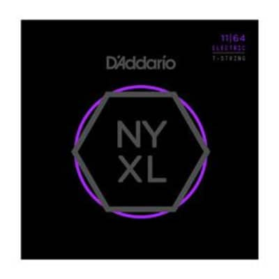 D'Addario NYXL Nickel Wound Electric Guitar Strings - 11-64 image