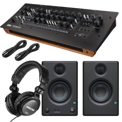 Korg minilogue XD module Polyphonic Analog Synthesizer, Presonus Eris3.5, Tascam TH02, (2) 1/4 Cables Bundle