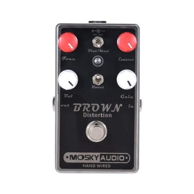 Mosky Audio BROWN Distortion Dual Toggle with Boost Option Hand-Wired