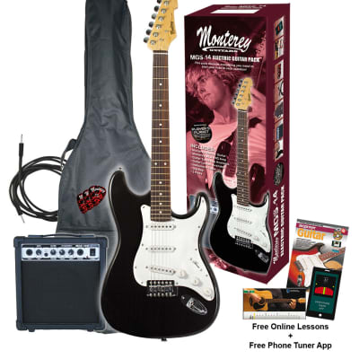 Monterey MGS-14 Electric Guitar & Amp Beginner Pack for sale