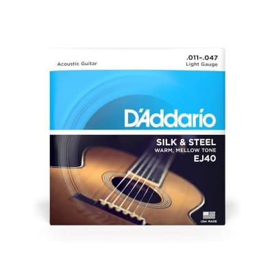 D'Addario EJ40 Light Gauge Silk and Steel Strings 11-47