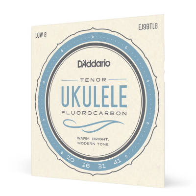 D'Addario #EJ99TLG  - Ukulele Fluorocarbon Low G Strings, 20-41