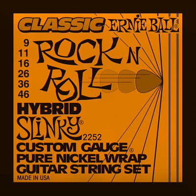 Ernie ball Classic Pure Nickel Guitar Stings Slinky Hybrid 9 - 46 for sale